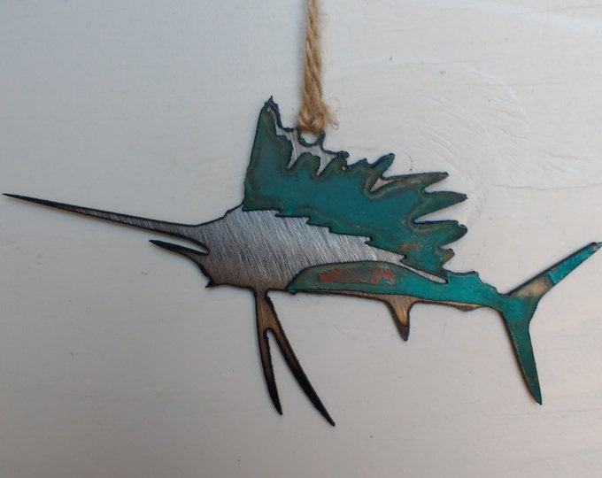 Patina Sailfish Ornament
