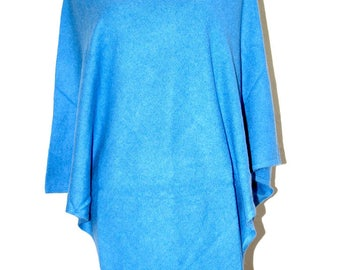 Cashmere Poncho Cashmere Cape Jumper Sweater Ladies One Size Hand-loomed