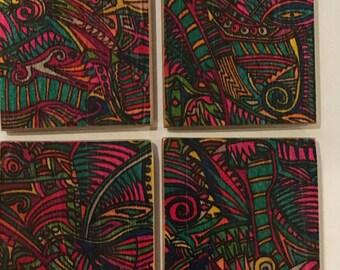 Coasters-Set of 4