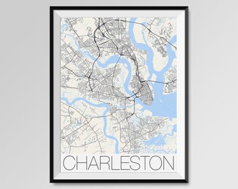 South Carolina Map Etsy - Us college map poster