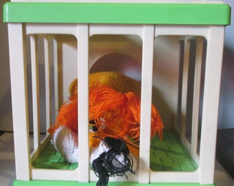 Lionel Lion Gabriel Busy Time Pre-school Puppet In Cage 1977