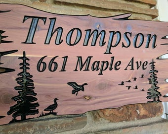 Custom Wood Signs, Personalized Wood Sign, Carved Wooden Signs, Outdoor Wood Signs, Address Signs, House Number, Personalized Gift