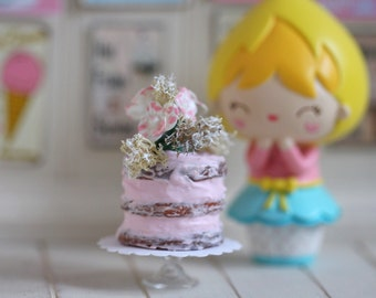 Miniature Shabby Chic Naked Cake
