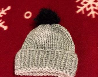 Grey Baby Hat (newborn)