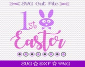 Easter SVG for Baby / First Easter SVG File /  Easter Bunny SVG / 1st Easter Svg Cutting File