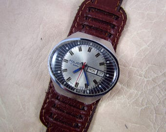 SOVIET POLJOT Stadium USSR rare vintage men's mechanical wristwatch N4