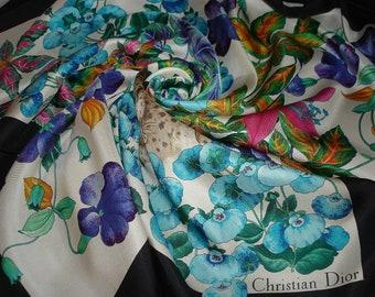 CHRISTIAN DIOR scarf silk 100% Dior tuch