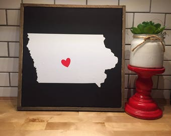 Des Moines Iowa home wall hanging -- can make any city