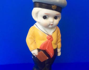 Sweet Little All Bisque Sailor Boy Doll