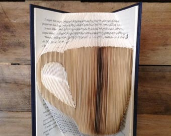 BOGO! Coffee Cup Folded Book Art