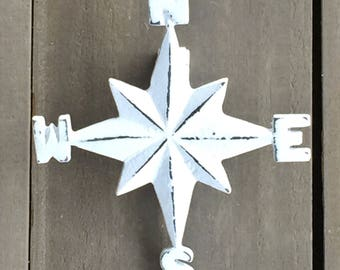 Nautical Compass Rose Cast Iron Door Knocker, Shaby Chic Cottage