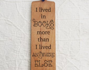 Engraved Quote Bookmark for Reading Lover - Neil Gaiman