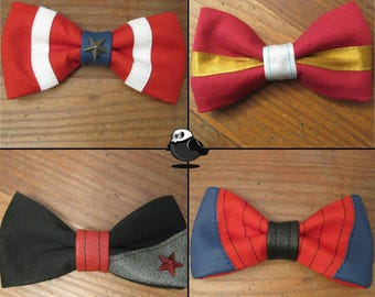 Marvel Bows; CaptainAmerica,IronMan,WinterSoldier,SpiderMan,Wolverine,Deadpool,Quicksilver,Scarlet,CaptainMarvel,Gambit,Punisher,Fantastic4