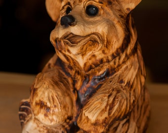Chainsaw carved Jamie Bear