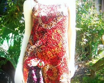 Fiery forest nymph frock - Re-created