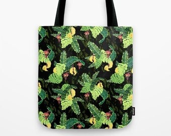 """Bunch of bananas. Strong &lightweight tote bag 14"""" x14"""""""
