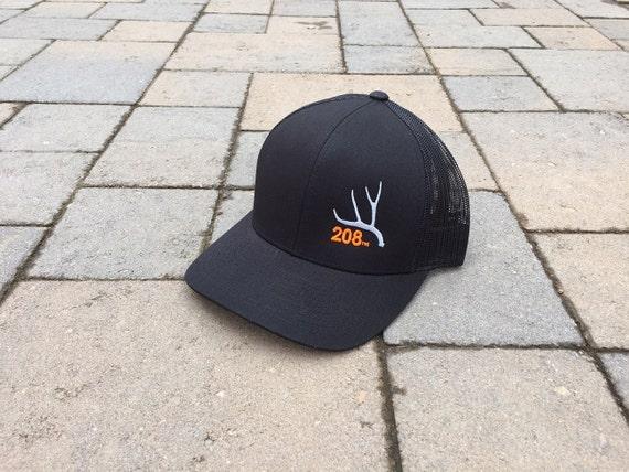 Area Code Art 208 Area Code Hunting Trucker Hat Mule Deer