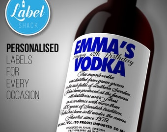 Personalised Vodka bottle label-Ideal Celebration/Birthday/Wedding gift personalized bottle label