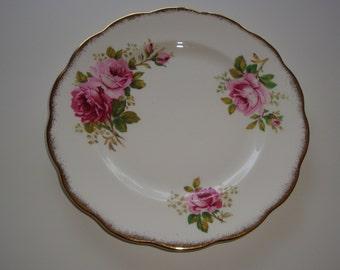 Set of 4 Royal Albert AMERICAN BEAUTY Salad Plates