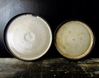 165. Set of two handmade plates. Ceramics plates. minimalistic look.