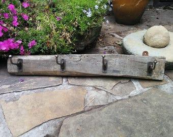 Oak Hook Board iron hooks, Oak over 100 year old
