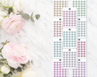 GLOSS | Paw Print Dollar Prints | Watercolour | Erin Condren | Vertical | Planners
