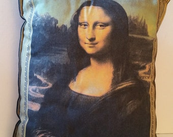 Mona Lisa pillow, clean
