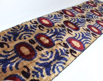 Sale! 25% off! Regular price - 39.99! Silk Velvet Fabric,Velvet Upholstery Fabric, Velvet, Silk Velvet, Hand Woven Fabric. V20