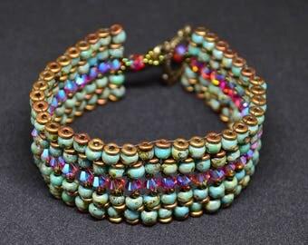 "Bracelet made of genuine Swarovski ""Rock n Roll"""