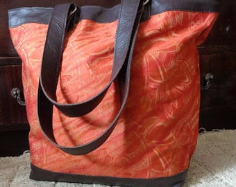 BURNT ORANGE Tote Bag or Carry All
