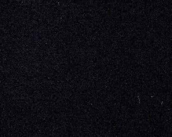 Black Cotton Spandex Jersey Knit fabric 12oz