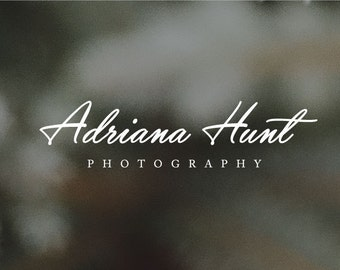 Photography Logo, Instant Download Logo, Photography DIY Logo, Premade Logo