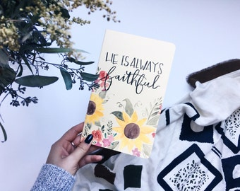 Customizable Yellow Sunflower Moleskin Journal