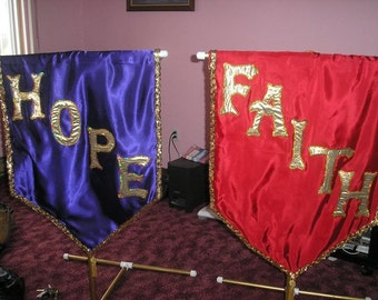 Hope and Faith 3 foot banners price for the PAIR of 2
