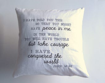 John 16:33 Take Courage