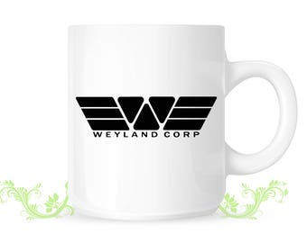 ALIEN Covenent PROMETHEUS Weyland Corp Sci Fi Mug Logo