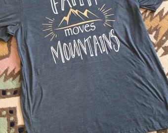 Faith Moves Mountains tee