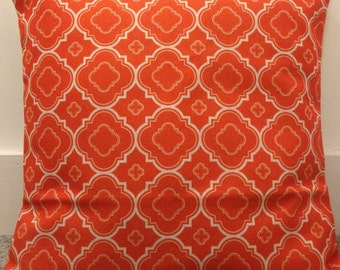 """Double-sided Orange moroccan cushion cover 18"""" cotton linen"""