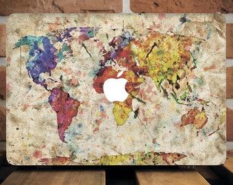 Vintage Map MacBook Case MacBook Pro 13 Case MacBook Pro Retina 15 Case MacBook Air 11 Case Hipster Macbook Case Macbook Air 13 Case WCm062