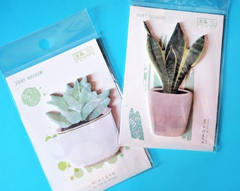 Succulent Plant Sticky Note Memo Pads