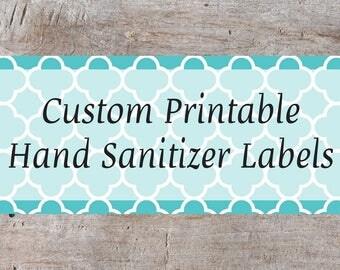 hand sanitizer tag etsy. Black Bedroom Furniture Sets. Home Design Ideas