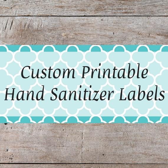 personalized hand sanitizer label custom hand sanitizer. Black Bedroom Furniture Sets. Home Design Ideas