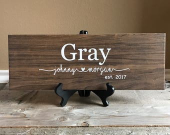 Wedding Gift, Wedding Gift Personalized, Gifts for couple, gift ideas, gifts for bride, gift for parents, wedding signs, wedding, last name