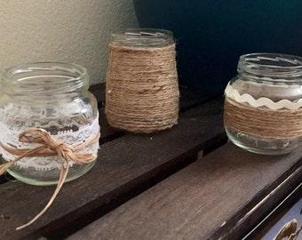Decorative jars/ candle holders