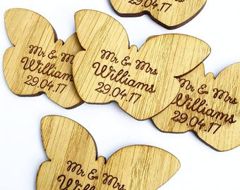 Mr and Mrs Favours - Butterfly Favors - Butterfly Decor - Butterfly Decorations - Butterfly Wedding Favors - Wedding Table 12TD