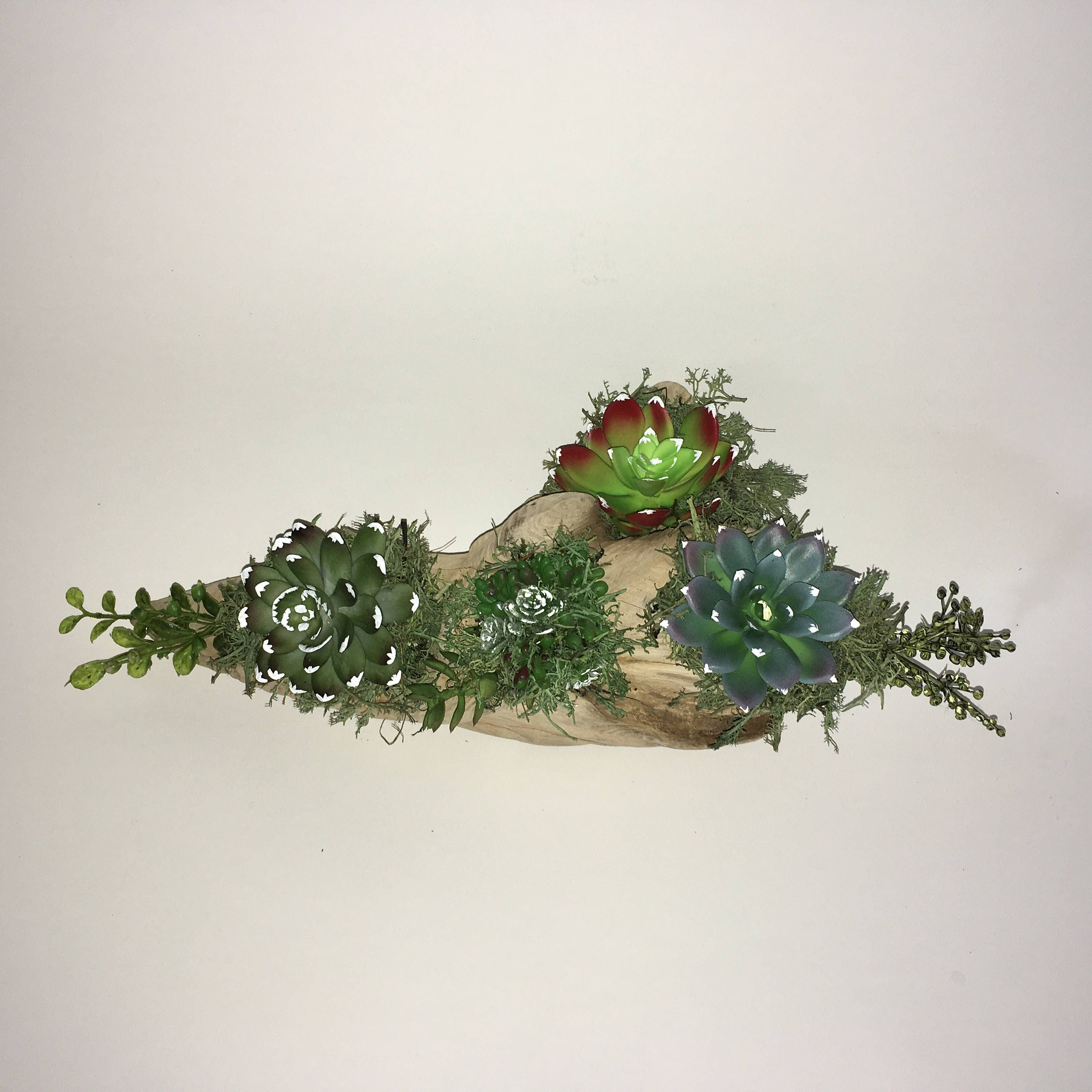 Handmade Reclaimed Driftwood Artificial Succulent Arrangement ...