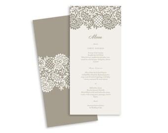 Wedding Menu Template | Antoinette | Printable DIY Wedding Invite, Wedding Reception, Printable Wedding Menu, Drink Menu, Food Menu