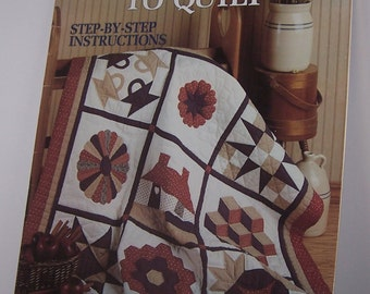 Teach Yourself To Quilt Pattern Book Leisure Arts Leaflet 1179 Vintage 1988 Step By Step Instructions