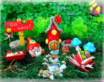Adults Miniature Handmade FAT cake Gnome Fairy garden kit! One of a kind ( Item #S326 )