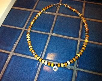 Teen boy golden jasper necklace